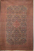 "Semi-Antique Tabriz : 10'5"" x 6'9"""