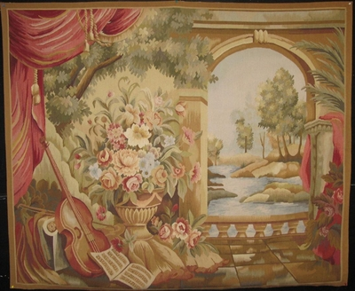 "Tapestry ""Romance & Poetry"" : 5'8"" x 4'9"""