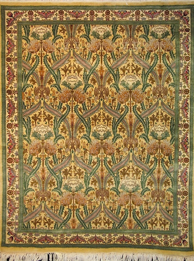 "Zerekhaki Tabriz - Arts & Crafts de William Morris : 6'2"" x 4'7"""