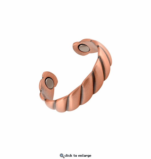 Copper Adjustable Magnetic Therapy Ring Twist