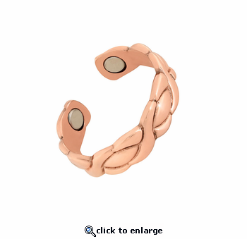 Copper Adjustable Magnetic Therapy Ring XOXO