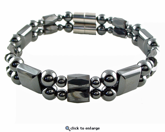 Double Hematite Magnetic Therapy Bracelet Europa