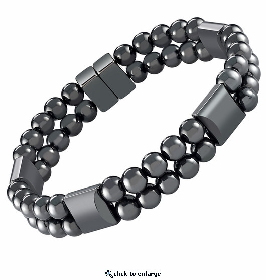 Double Hematite Magnetic Therapy Bracelet Jupiter
