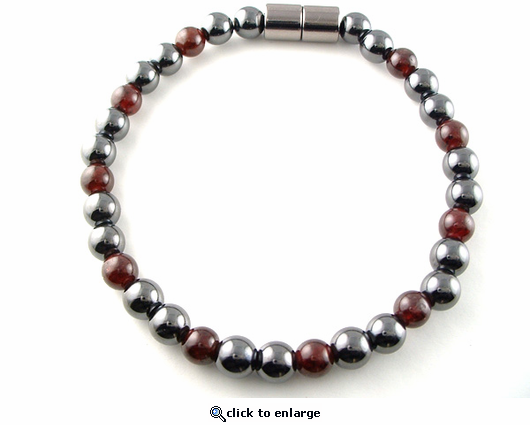 Hematite Magnetic Therapy Anklet Garnet Unity