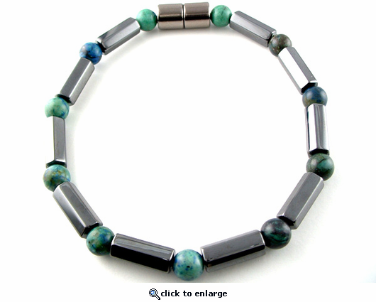 Hematite Magnetic Therapy Bracelet Lapis Polygons