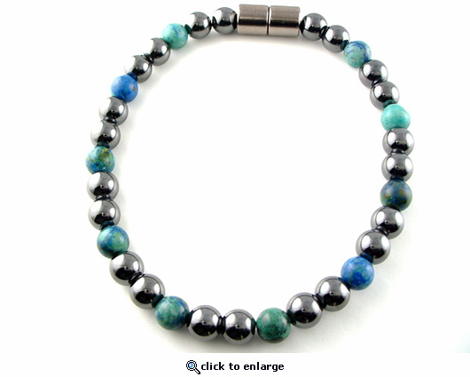 Hematite Magnetic Therapy Necklace Lapis Unity