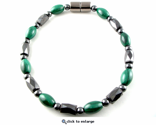 Hematite Magnetic Therapy Necklace Malachite Europa