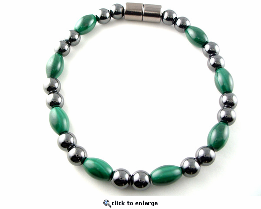 Hematite Magnetic Therapy Necklace Malachite Unity