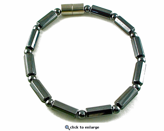 Hematite Magnetic Therapy Bracelet Polygon Duet