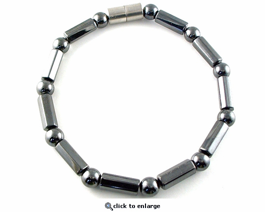 Hematite Magnetic Therapy Bracelet Polygons