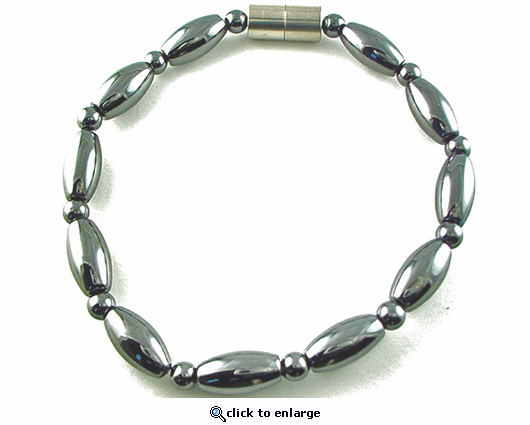Hematite Magnetic Therapy Anklet Rice Duet