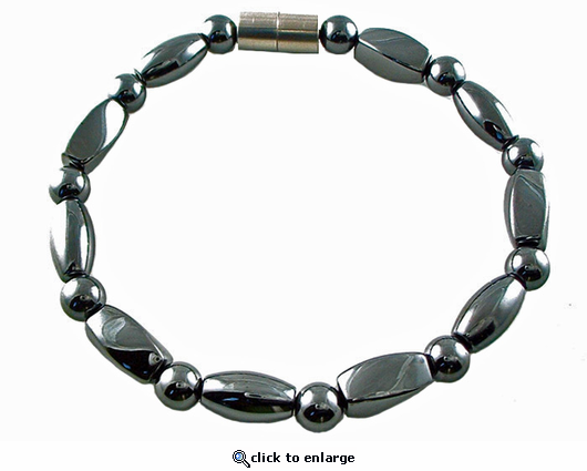 Hematite Magnetic Therapy Necklace Rice Twister