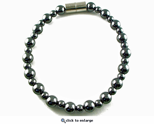 Hematite Magnetic Therapy Necklace Rounders