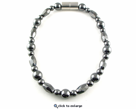 Hematite Magnetic Therapy Anklet Trey Marquise