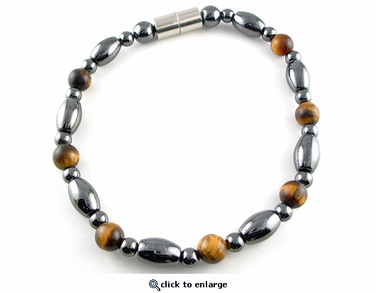Hematite Magnetic Therapy Necklace Tiger Eye Venus