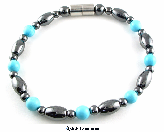 Hematite Magnetic Therapy Necklace Turquoise Venus