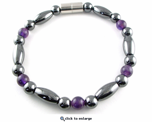 Hematite Magnetic Therapy Necklace Amethyst Trey Rice