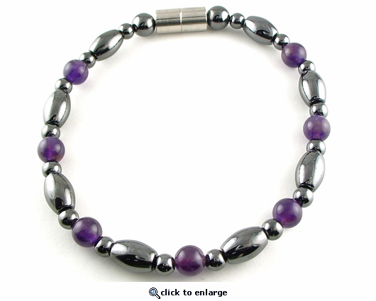 Hematite Magnetic Therapy Necklace Amethyst Venus