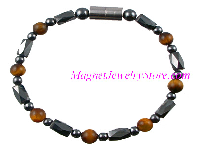 Hematite Magnetic Therapy Anklet Tiger Eye Europa