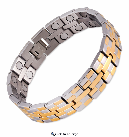 Magnetic Therapy Bracelet 2 Tone Double Grand