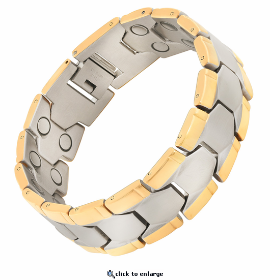 Magnetic Therapy Bracelet 2 Tone Double Grandiose