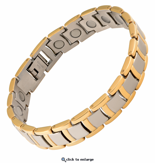 Magnetic Therapy Bracelet Stainless Steel Grand Case