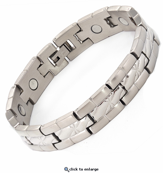 Magnetic Therapy Bracelet Stainless Steel Silver da Vinci