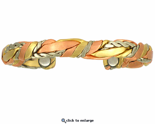 Sergio Lub Copper Magnetic Bracelet Brushed Sage Bundle 578