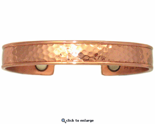 Sergio Lub Copper Magnetic Therapy Bracelet Hammered 733
