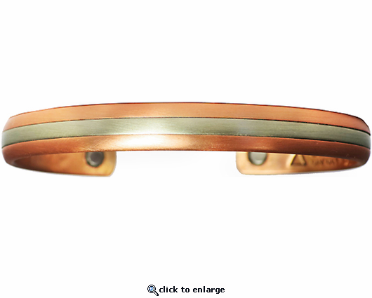 Sergio Lub Copper Magnetic Therapy Bracelet Two Worlds 548