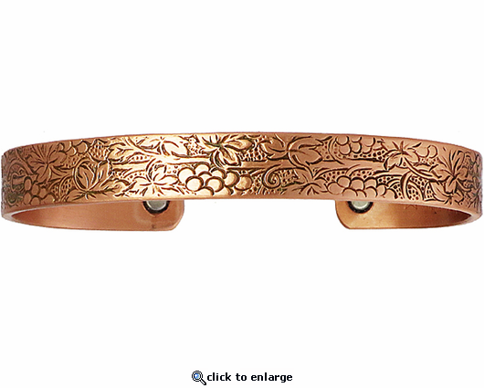 Sergio Lub Copper Magnetic Therapy Bracelet Vineyard 527