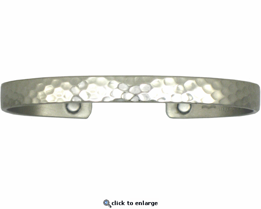 Sergio Lub Magnetic Therapy Bracelet Textured Silver 753