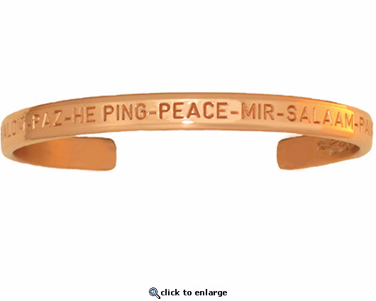 Sergio Lub Peace Copper Bracelet Not Magnetic