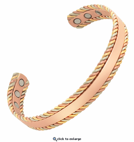 Trilogy Copper Magnetic Therapy Bracelet