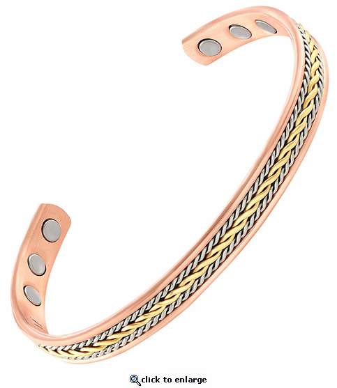 Triple Twist Copper Magnetic Therapy Bracelet