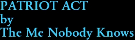 PATRIOT ACT by The Me Nobody Knows