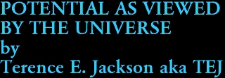 POTENTIAL AS VIEWED BY THE UNIVERSE by Terence E. Jackson aka TEJ