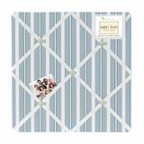 Argyle Green Blue Collection Stripe Fabric Memo Board