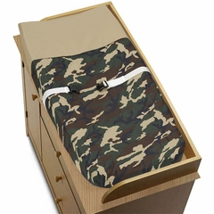 Army Green Camo Changing Pad Cover By Sweet Jojo Designs