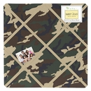 Army Green Camo Fabric Memo Board