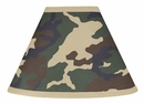 Army Green Camo Lamp Shade by Sweet Jojo Designs