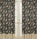 Army Green Camo Window Panel Curtains by Sweet Jojo Designs