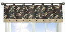 Army Green Camo Window Valance by Sweet Jojo Designs