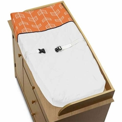 Arrow Orange and Navy Changing Pad Cover