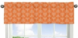 Arrow Orange and Navy Collection Arrow Window Valance