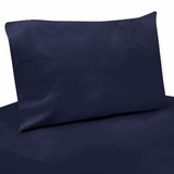 Arrow Orange and Navy Collection Solid Navy Twin Sheet Set