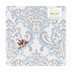 Avery Blue and Gray Damask Fabric Memo Board