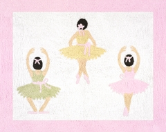 Ballerina Accent Floor Rug by Sweet Jojo Designs