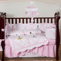 Ballerina Baby Bedding - 9 Piece Crib Set