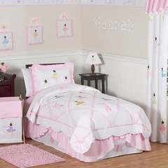Ballerina Bedding - 3 Piece Kids Bedding Full/Queen Set